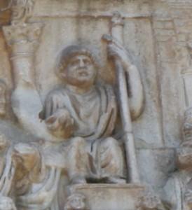 Constantin Ier sur l'Arc de Constantin à Rome (cliché par D. Colas)