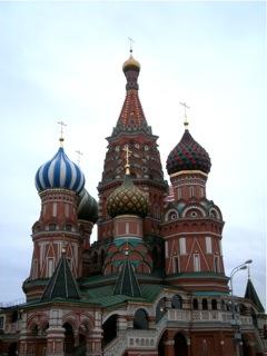 Saint Basile le Bienheureux (fin XVIe siècle) au sud de la Place Rouge à Moscou (Cliché Clémentine Fauconnier)