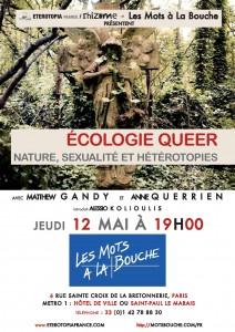 Événement : Matthew Gandy et Anne Querrien «Ecologie queer. Nature, sexualité et hétérotopies», Jeudi 12 mai 2016