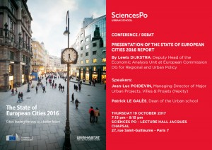 [Presentation] The State of European Cities 2016 Report; Thursday, 19.10, 17.15-21.15