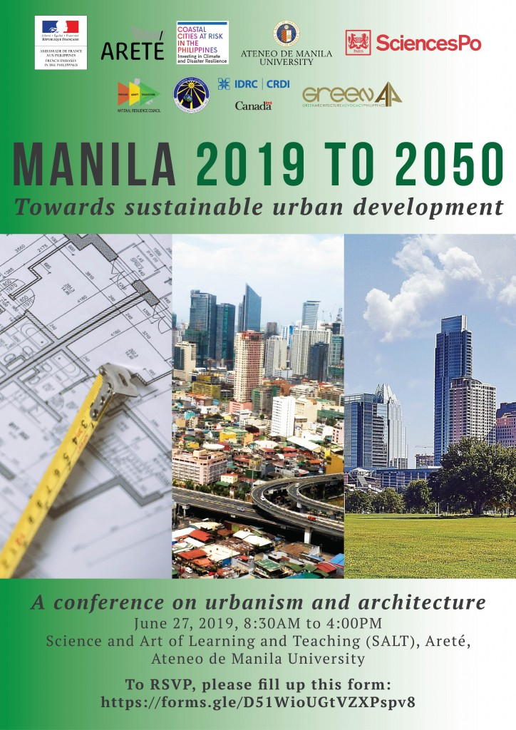[Conférence] MANILA 2019 to 2050. Towards a sustainable urban development, 27 juin 2019, Ateneo de Manila University