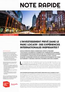 [Publication] «L'investissement privé dans le parc locatif : des expériences internationales inspirantes ?», Note rapide Société-Habitat, n° 871